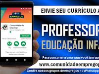 PROFESSOR EDUCAÇÃO INFANTIL COM LICENCIATURA EM PEDAGOGIA PARA O RECIFE