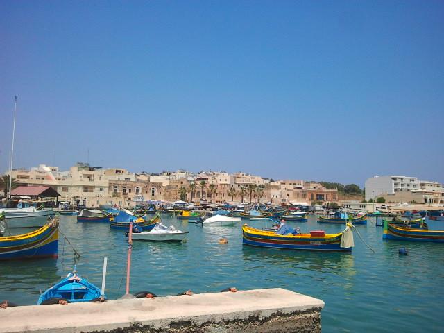 Marsaxlokk boats sea Malta