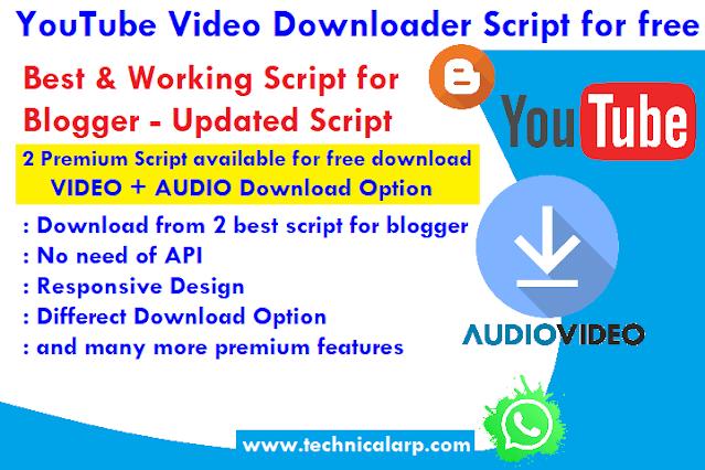 youtube video downloader script