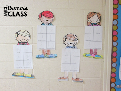Math About Me- a craftivity that is All About Me in a math theme!