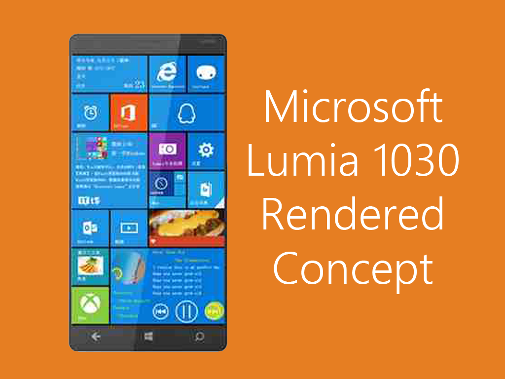 Microsoft Lumia 1030 Concept Rendered! Features Windows 10 and 41 MP PureView Camera