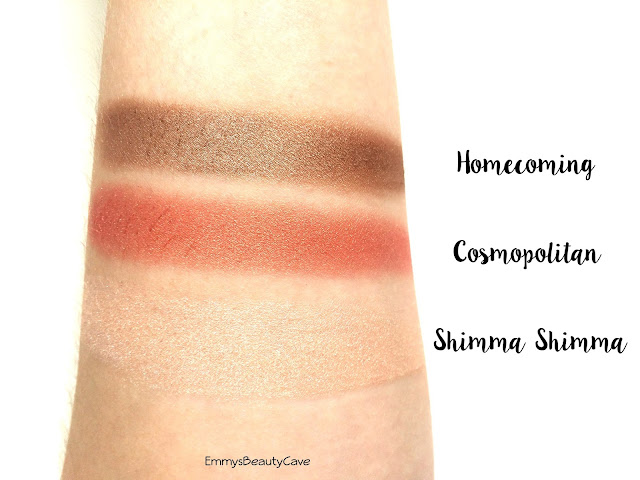 Makeup Geek Homecoming Cosmopolitan Shimma Shimma Swatches