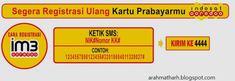 3 Cara Registrasi Ulang Kartu Indosat Im3 \u0026 Mentari Terbaru  ARAHMATH CELL