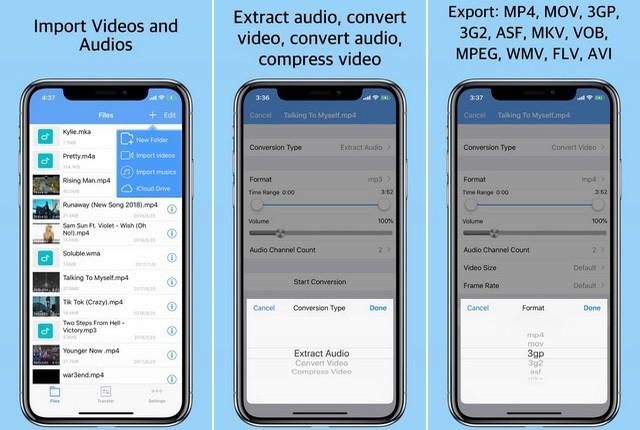 أفضل تطبيق لتحويل الفيديو للايفون