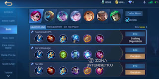 Nana's build and emblem sick in Mobile Legends