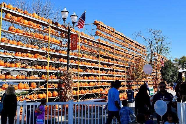 One of the famous Pumpkin Walls at The Great Highwood Pumpkin Festival. Image credit Celebrate Highwood.