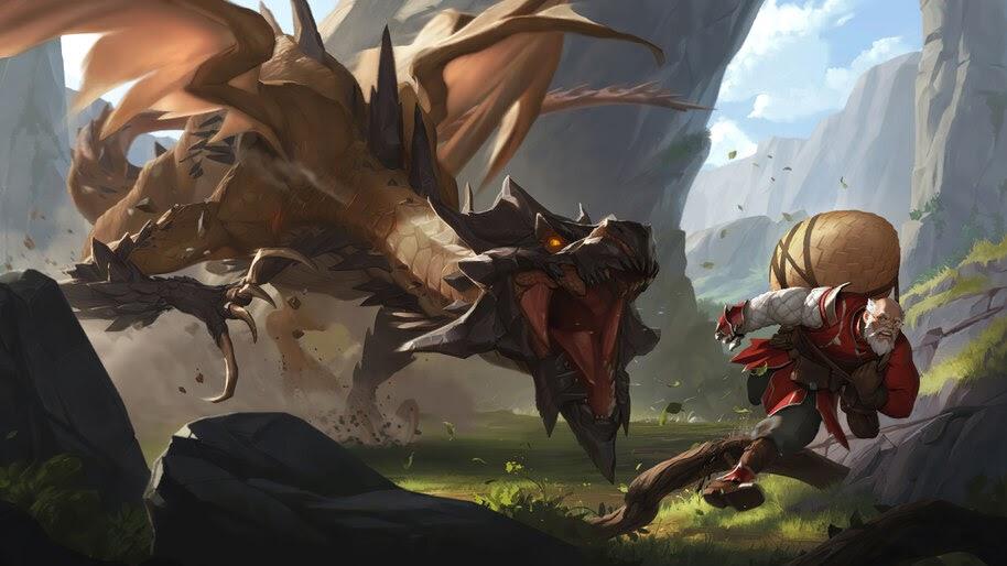 Screeching Dragon, Demicia, Legends of Runeterra, 4K, #5.2686