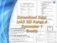 Segera Download Soal UAS SD Kelas 4 Semester 1 Lengkap