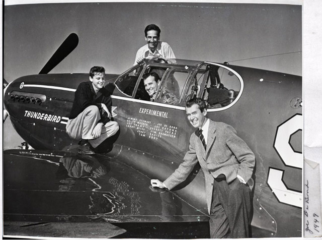 Jimmy Stewart and his P-51C worldwartwo.filminspector.com