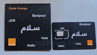 Carte SIM Orange Maroc