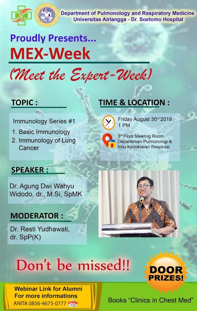 *MEX-Week (Meet the Expert-Week)*    TOPIC:  *Basic Immunology* 30 Agustus 2019