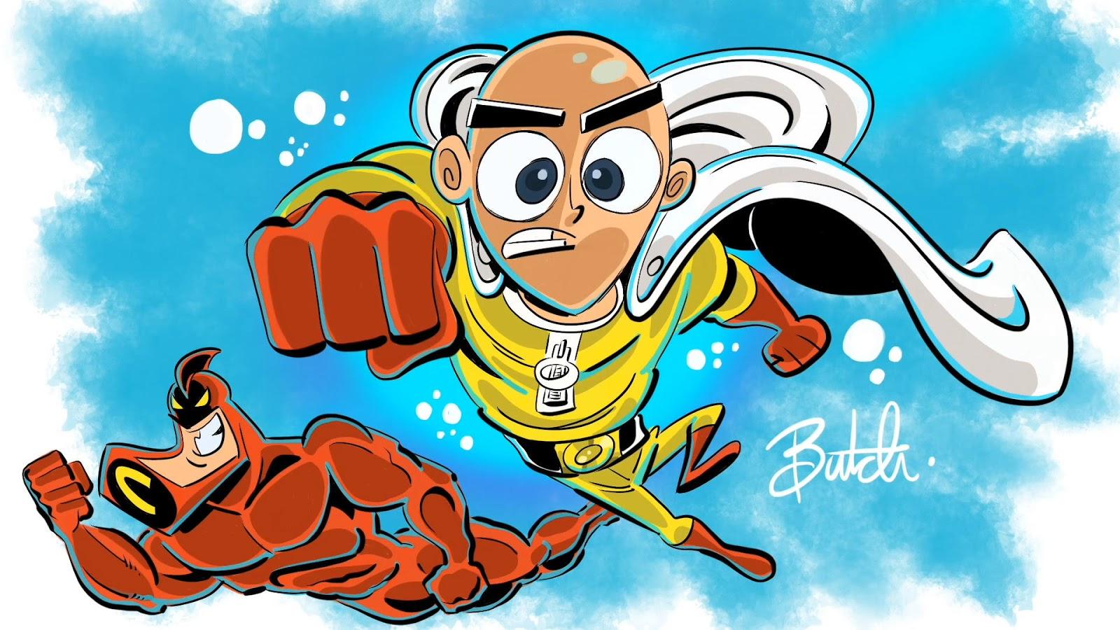 Saitama z One Punch Man narysowany przez twórcę Wróżków chrzestnych