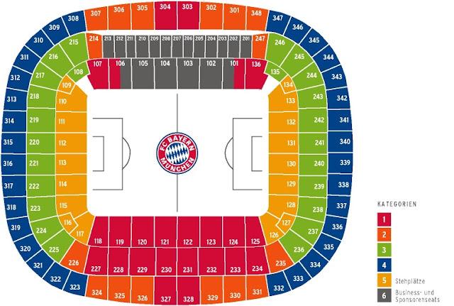Sitzplan Stadionplan der Allianz Arena in München, Allianz arena Sitzplan Block Reihe, allianz arena münchen sitzplan, Allianz arena parken, sitzplan allianz arena münchen,allianz arena sitzplan reihen