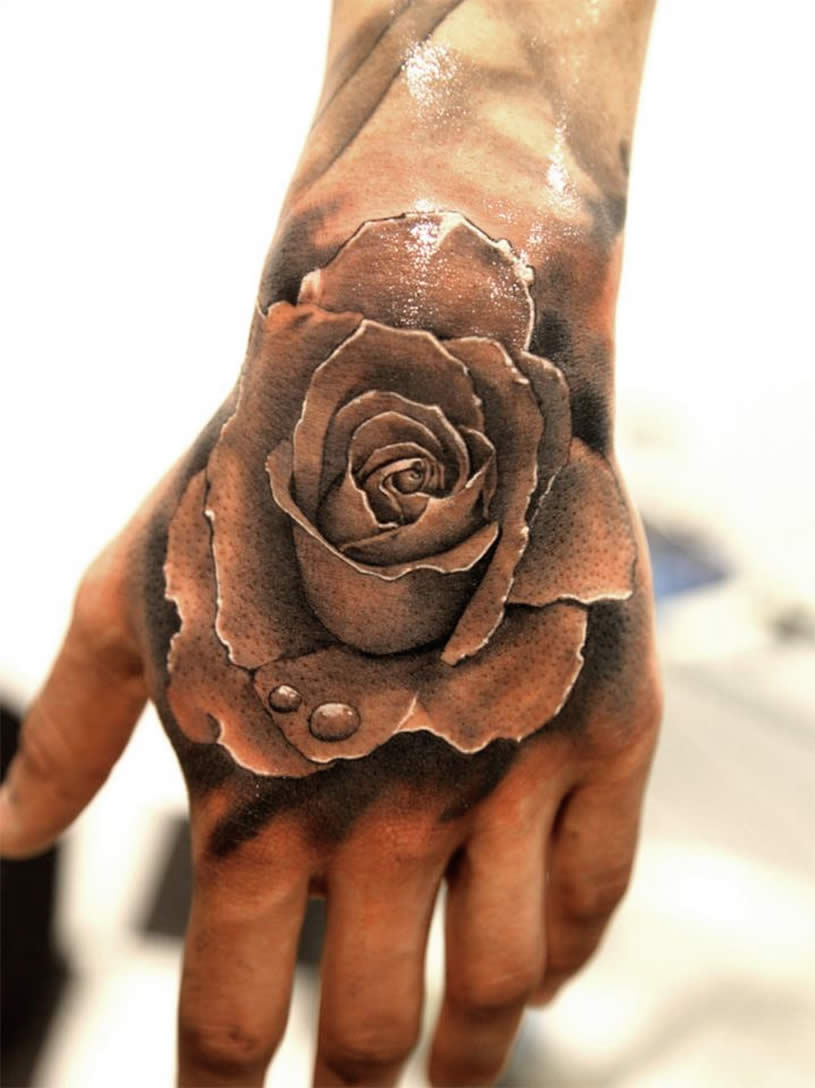 amazing tattoos tattoo hand rose 3d awesome designs incredible most tatoo tatoos roses