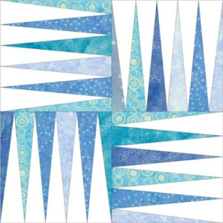 Blue Frost Quilt Block Pattern - variation