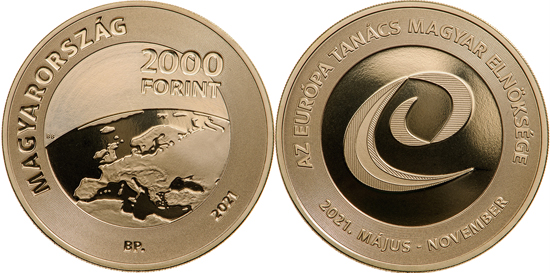 Hungary 2,000 forint 2021 - Hungarian presidency in the Council of Europe