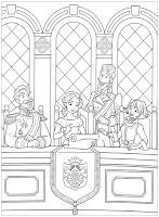 דפי צביעה הנסיכה אלנה מאוולור