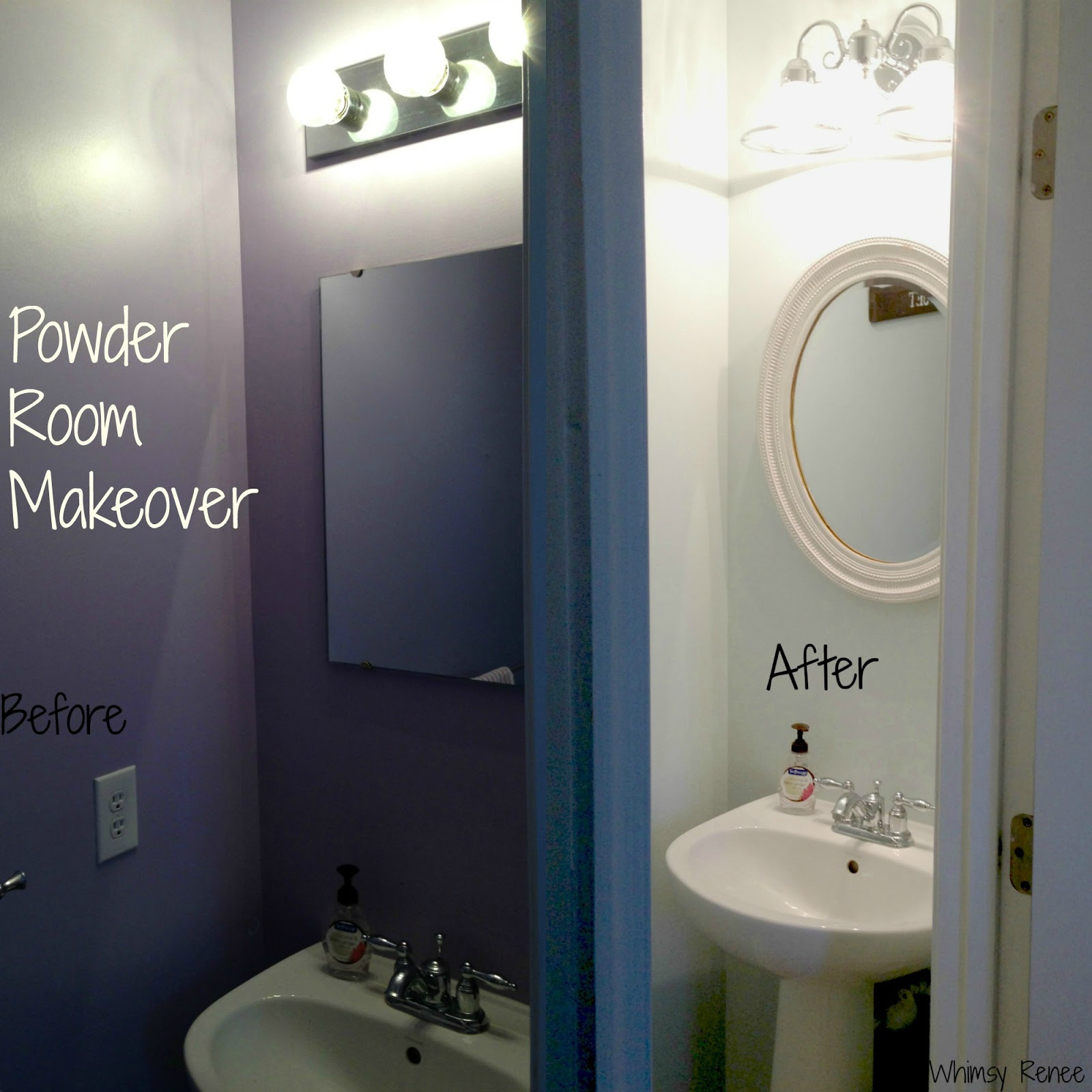 Whimsy Renee: Powder Room Makeover & Reveal