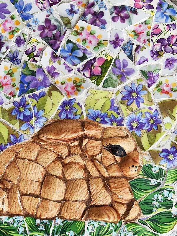 Mosaic bunny by Jeanne Selep