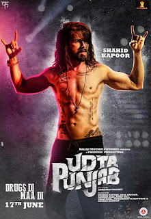Shahid Kapoor in a rockstar look for UDTA Punjab