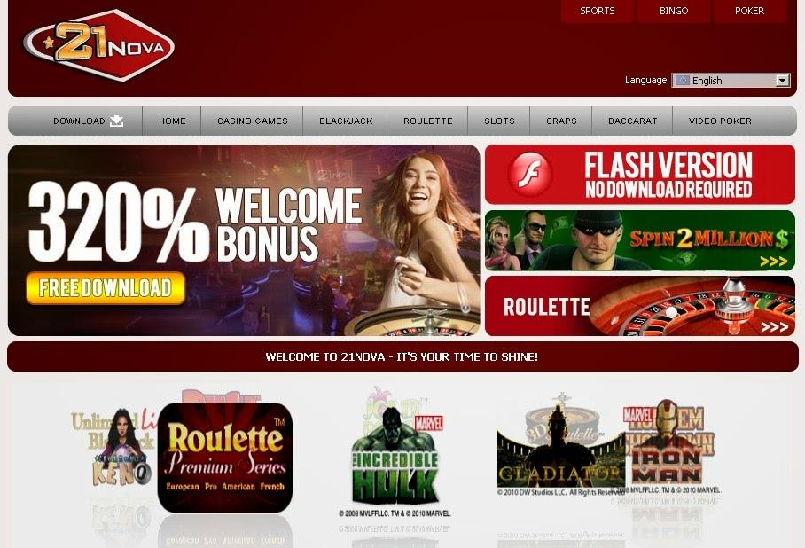 21 Nova Casino Screen