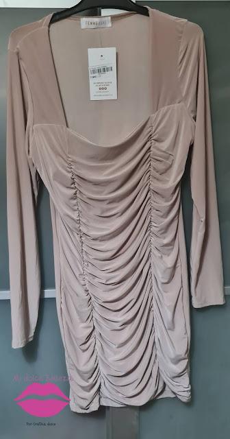 Mini vestido nude FEMMELUXE