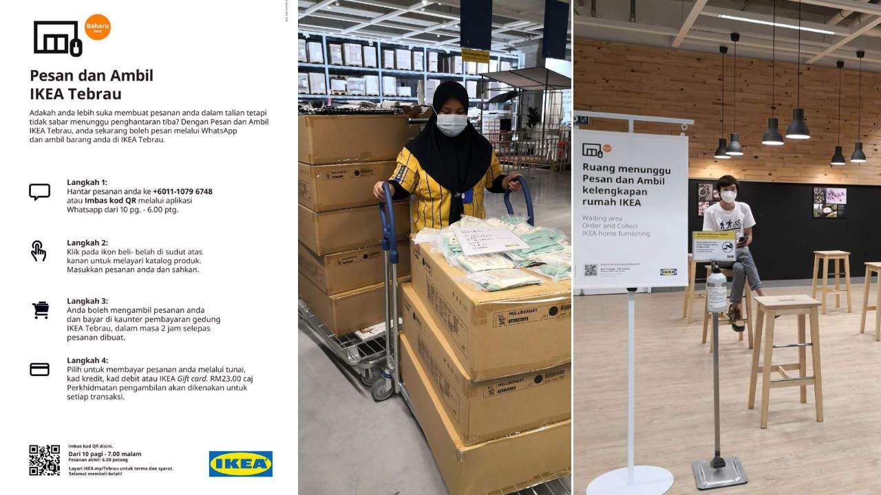 IKEA menyediakan perkhidmatan 'Pesan dan Ambil' hari yang sama menerusi Whatsapp