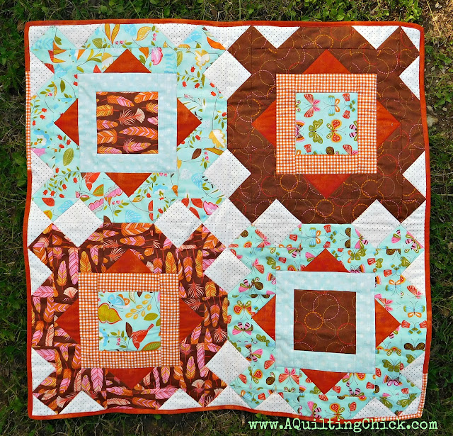 Fleur de L'Amour - Full Quilt on Grass