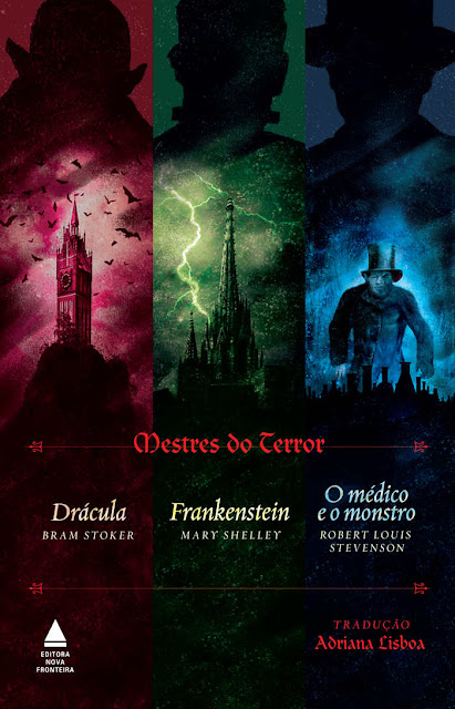 Mestres do terror Bram Stoker Robert Louis Stevenson Mary Shelley