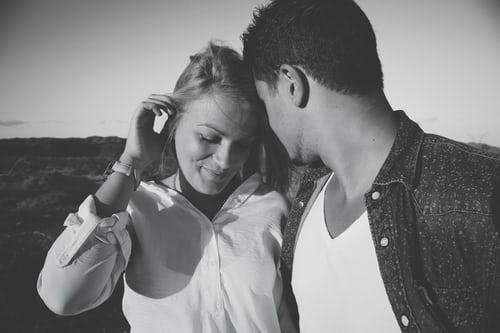 partner while blushing