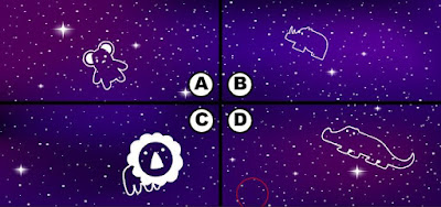 Alt 3 Q 15. Looks like color bird has some blackberries and is soaring the night sky. Can you see where color bird is?