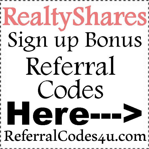 RealtyShares Sign Up Bonus 2021, RealtyShares Referral Codes, RealtyShares Bonus