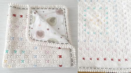 Örgüden bebek battaniyesine pazen geçirme | Elle dikiş ve makinede dikiş