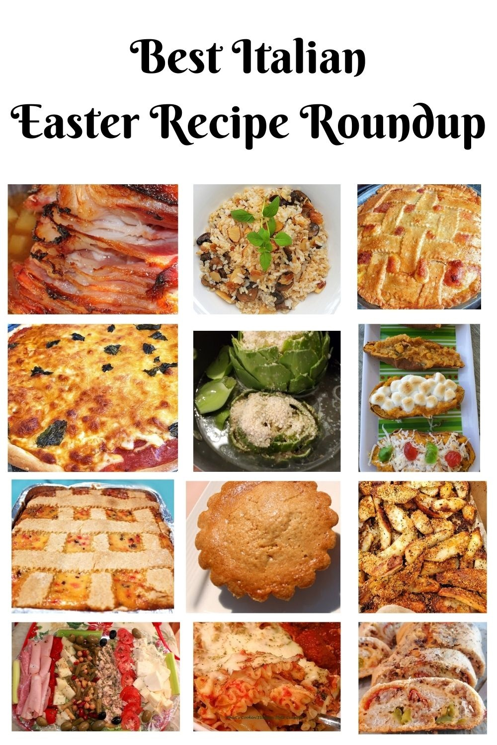 this is a pin for later collage of Italian Easter Recipes