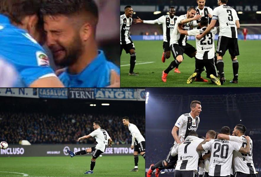 Napoli Juventus al cardiopalma: espulsioni, gol e rigore fallito da Insigne.