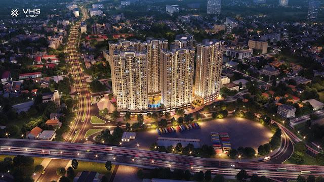 Phối cảnh chung cư Tecco Elite City Thái Nguyên