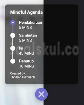 langkah 15 menambahkan fitur emoji dan agenda di google meet