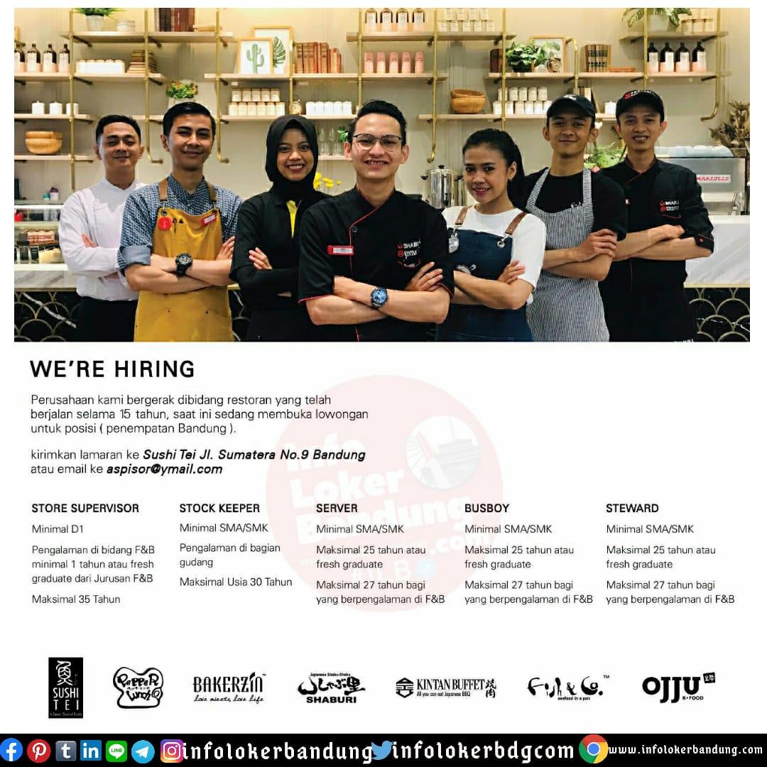Lowongan Kerja Sushi Tei Group Bandung Juli 2020