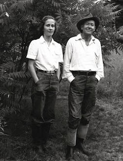 Nancy Thaye Andrews (1919-2006) with her father E.E. Cummings