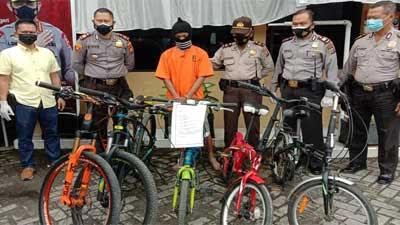 Polsek Lima Puluh Tangkap Pria Pengangguran Pencuri Sepeda