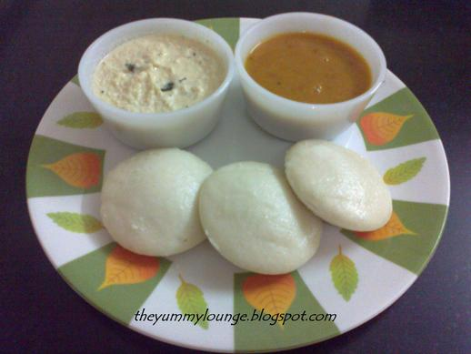 How to make Idli with coconut chutney and sambar recipe