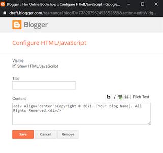 blogger html/javascript
