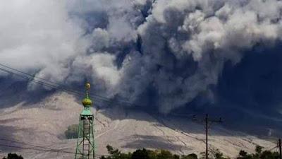 Abu vulkanik Sinabung capai Medan