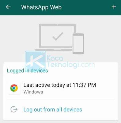 Buka aplikasi WhatsApp di HP Anda. Klik titik tiga di sudut kanan atas. Klik WhatsApp Web dan Anda akan melihat daftar perangkat yang terhubung. Klik tanda + untuk menambahkan perangkat baru.