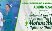 Camat Belimbing Mengucapkan Selamat Hari Raya Idul Fitri