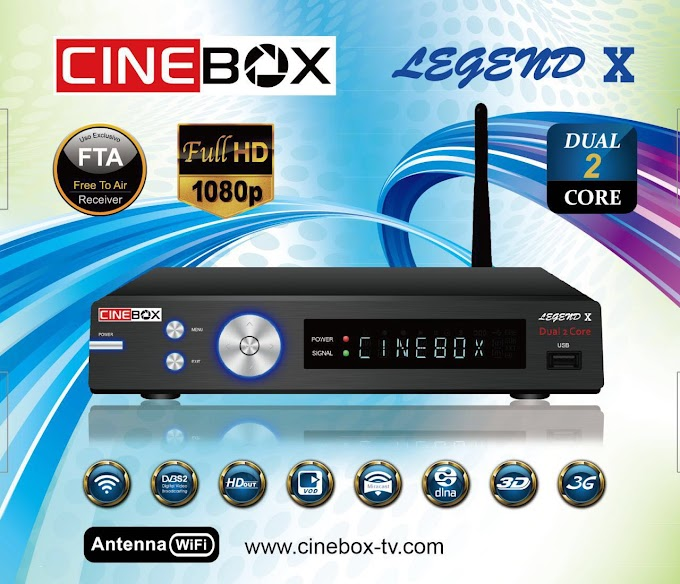 CINEBOX LEGEND X NOVA ATUALIZAÇÃO - 29/07/2019