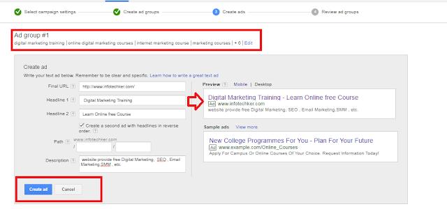 setup a Google Adwords campaign