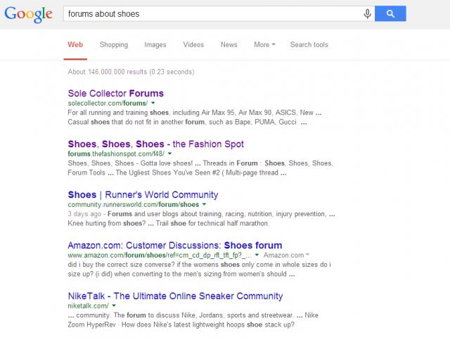 Busca en Google foros que traten sobre tu nicho mediante las Palabras clave más genéricas