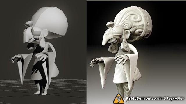 Pablo Belmonte Psyco3ler Zelda majora's mask character design Kotake