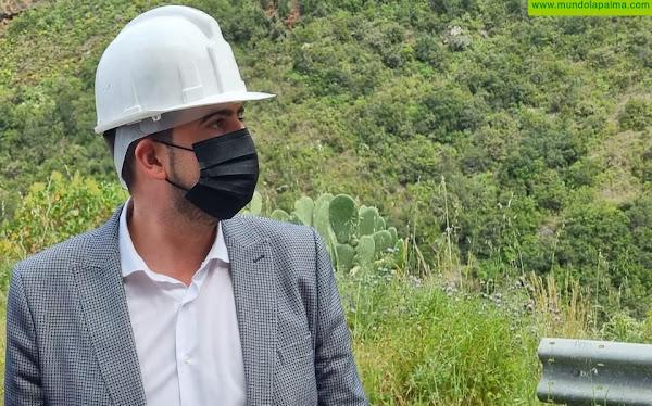 El Cabildo reabre con cortes intermitentes la carretera de Gallegos a partir del lunes 19 de Julio